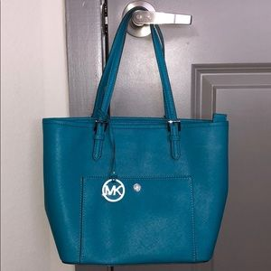 Teal Michael Kors Purse